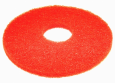 "FLOOR PADS, 17"", RED, BOX OF 5"