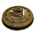 "Rotary Scrub Brush, 16"", .014"" Crimped Nylon, w/ 6 Point Clutch Plate"
